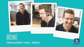 Bruno, téléconseiller vente à Belfort au sein du groupe Macif