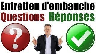 Entretien d'embauche : questions et réponses