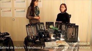 Vendeuse à domicile avec les Bijoux Victoria