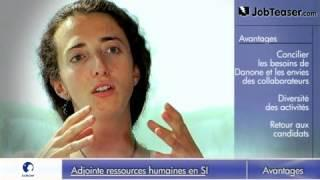 Adjoint ressources humaines siège Danone