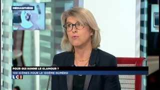 Interview de Marie Lannelongue, rédactrice en chef de Glamour, sur le plateau de LCI.